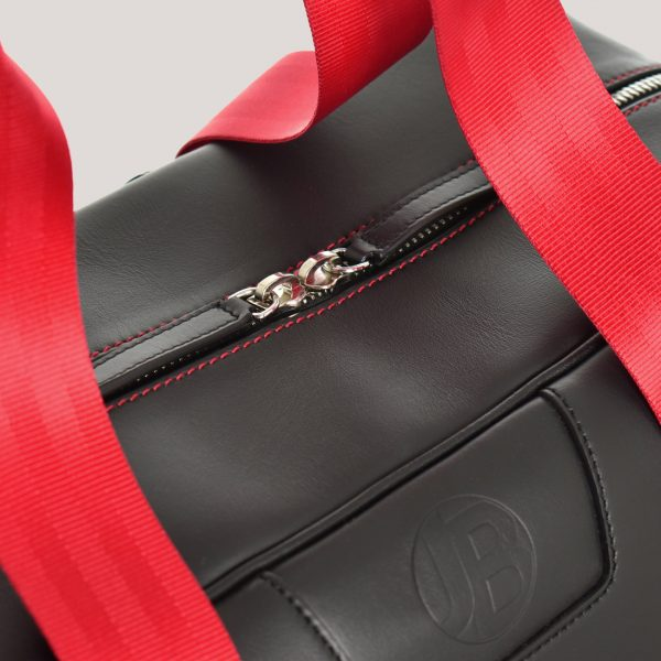racing red holdall zip