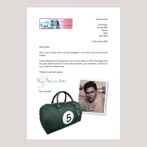AM 5 Inspired Leather Art GTO Motorsport Holdall 1