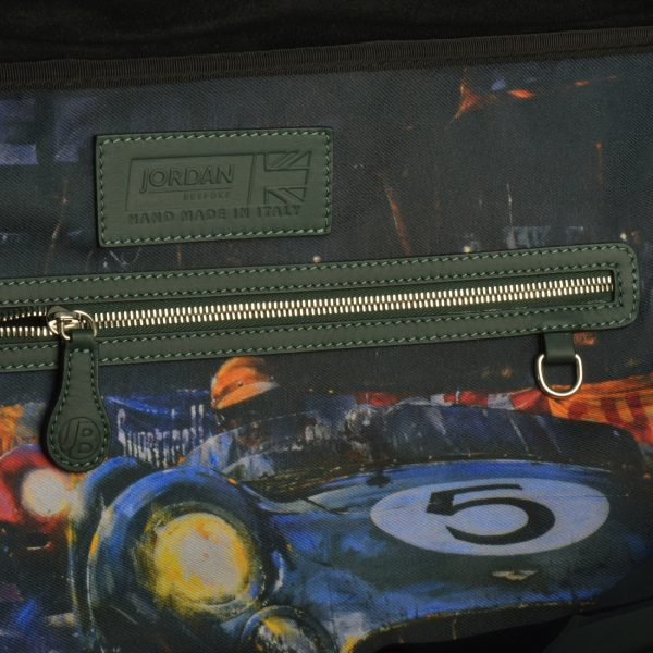 AM 5 Inspired Leather Art GTO Motorsport Holdall 8