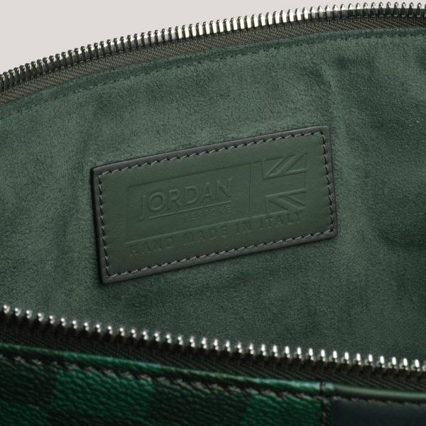 a4 folio brg check green inner